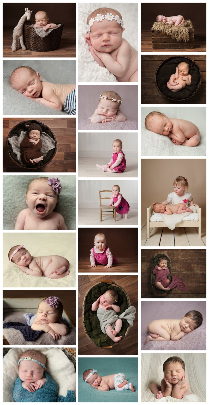 selection of images submitted for Qualified status with the Guild of Newborn and Photographers