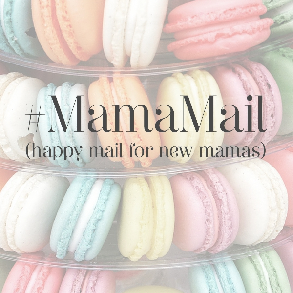 #MamaMail message on colourful macaroons