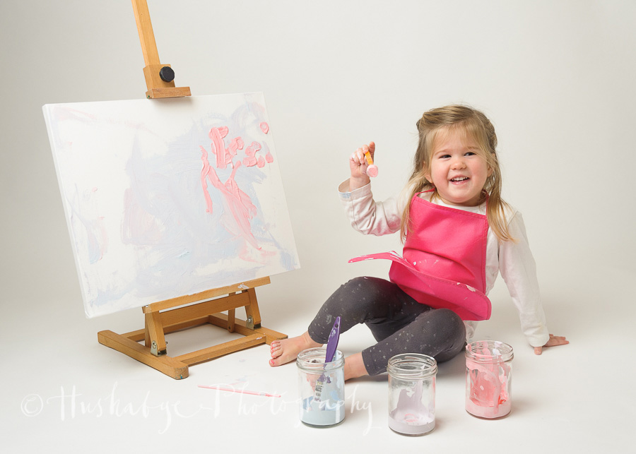 Little Artist, canvas, paint, toddler, pre school