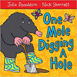 one mole digging a hole book