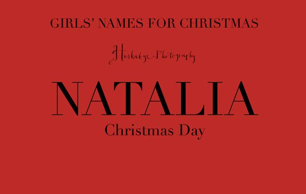 10 names for Christmas babies