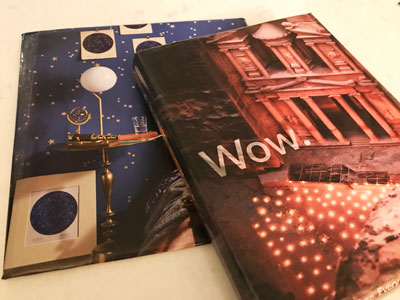 presents wrapped with magazine pages